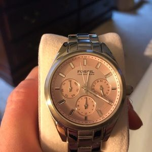 Fossil Pink-Faced Watch